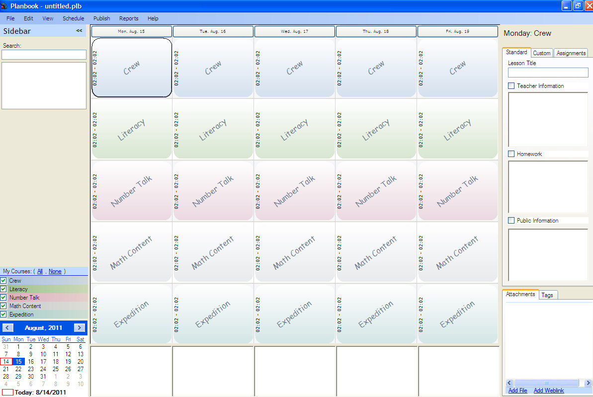 Lesson Planning And Creating A Teacher Plan Book Ms Houser - Lesson plan schedule template