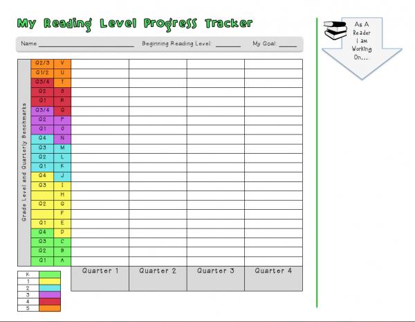 student grade tracker printable
