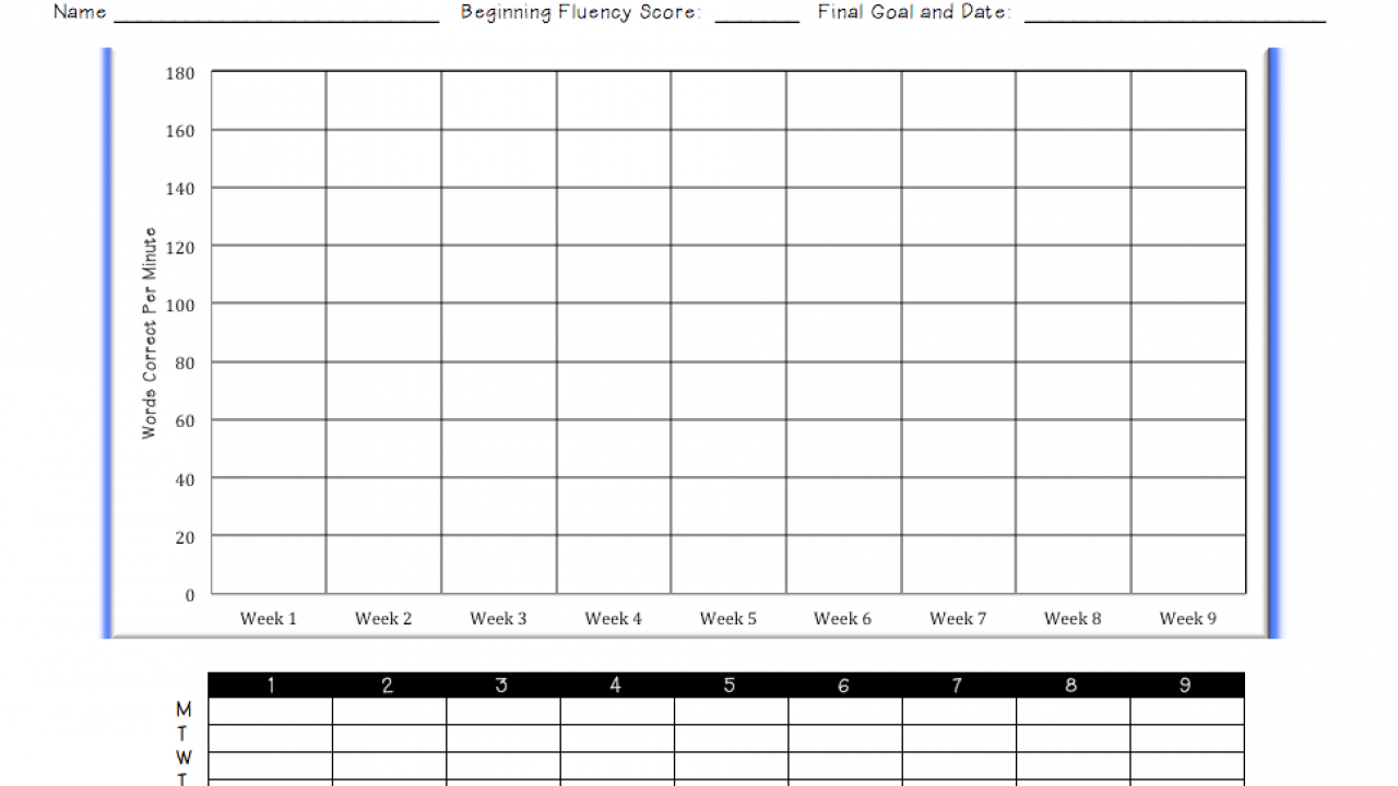 picture relating to Fluency Graph Printable titled Monitoring My Developments: Fluency Ms. Houser