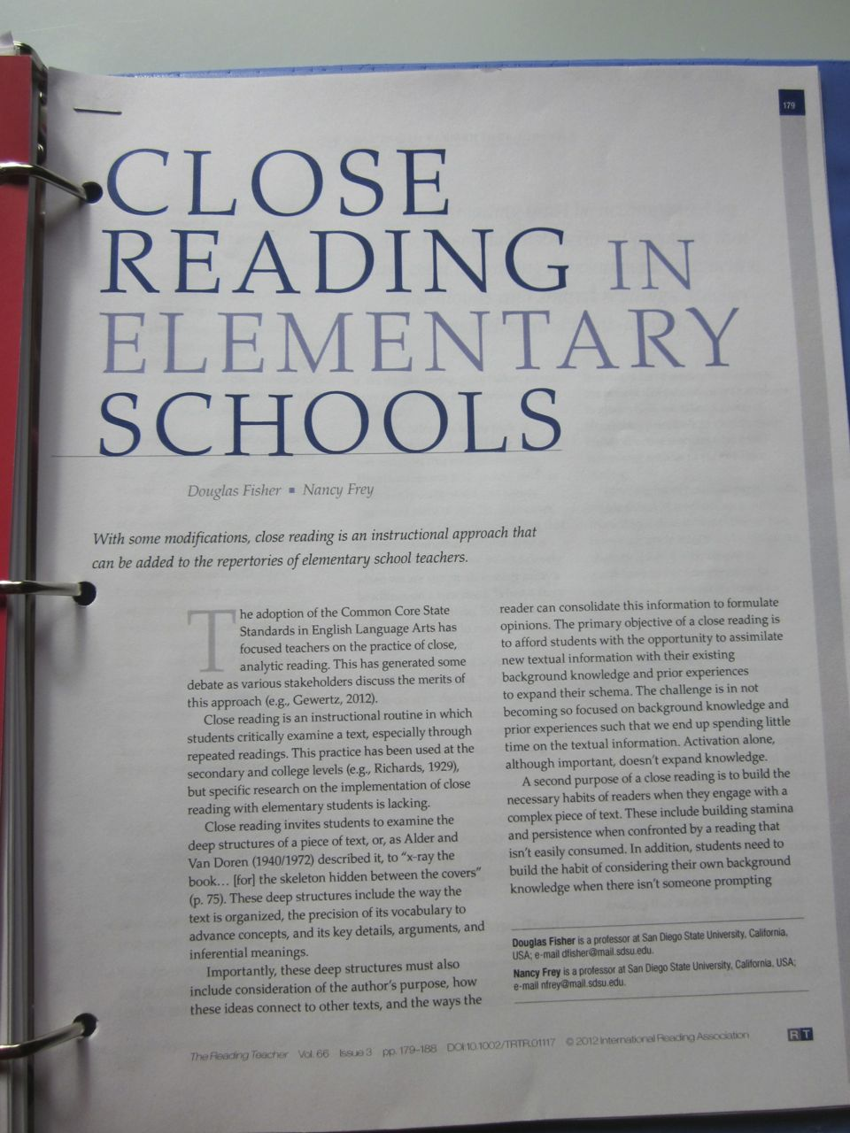 articles concerning literacy