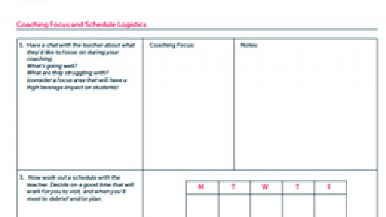 Instructional Coaching Tools | Ms  Houser