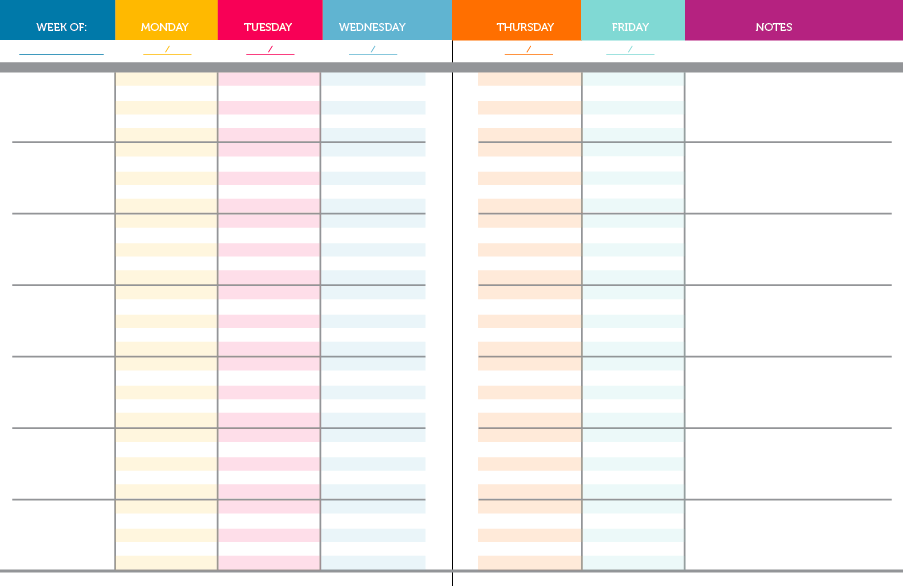 DIY Teacher PlannerBinder Ms Houser - Blank lesson plan template pdf
