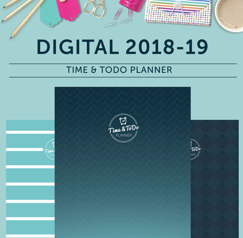 time todo planner 2018 19 digital download ms houser