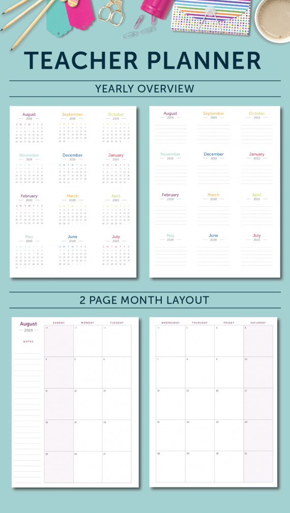 Teacher Planner - Yearly Overview